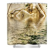 Lady Bathing Shower Curtain