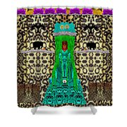 Lady Bear In The Jungle Shower Curtain
