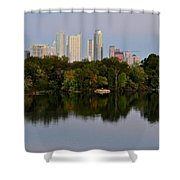 Lady Bird Lake In Austin Texas Shower Curtain