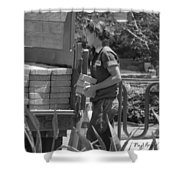 Lady Bricklayer Shower Curtain