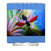 Lady Bug Landing Shower Curtain