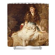 Lady Edith Amelia Ward Daughter Of The First Earl Of Dudley Shower Curtain