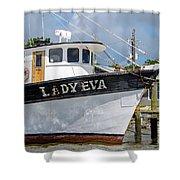 Lady Eva Shrimp Boat Shower Curtain