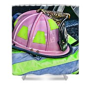 Lady Firefighter Shower Curtain