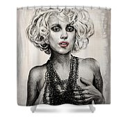 Lady Gaga Shower Curtain