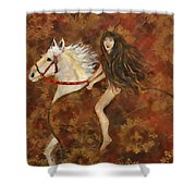 Lady Godiva Rides For Love Shower Curtain