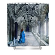 Lady In A Corridor Shower Curtain