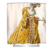 Lady In Grand Domino Dress To Wear Shower Curtain