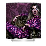 Lady In Pink... Shower Curtain