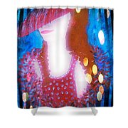 Lady In Red 3 Shower Curtain