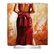 Lady In Red  39 Shower Curtain