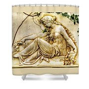 Lady In Robe And Roses Shower Curtain