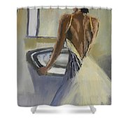 Lady In The Mirror Shower Curtain