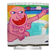 Lady In The Tub Shower Curtain