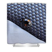 Lady Ladybug And Artificial Surfaces Shower Curtain