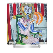 Lady Laura Shower Curtain