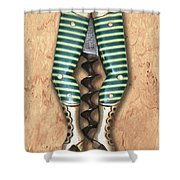 Lady Legs Corkscrew Painting Shower Curtain