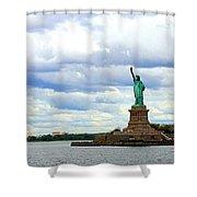 Lady Liberty B Shower Curtain