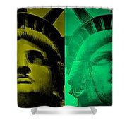 Lady Liberty For All Shower Curtain