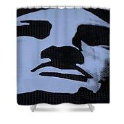 Lady Liberty In Dark Cyan Shower Curtain