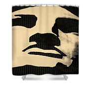 Lady Liberty In Dark Sepia Shower Curtain