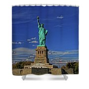 Lady Liberty In New York City Shower Curtain