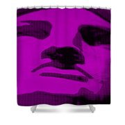 Lady Liberty In Purple Shower Curtain