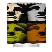 Lady Liberty In Quad Colors Shower Curtain