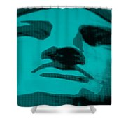Lady Liberty In Turquois Shower Curtain