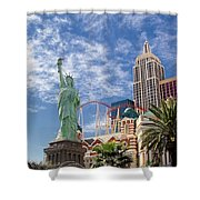 Lady Liberty In Vegas Shower Curtain