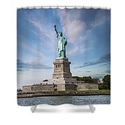 Lady Liberty Shower Curtain by Juli Scalzi