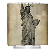 Lady Liberty No 11 Shower Curtain