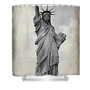 Lady Liberty No 6 Shower Curtain