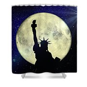 Lady Liberty Nyc - Featured In Comfortable Art Group Shower Curtain