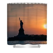Lady Liberty Shower Curtain by Ray Warren