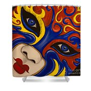 Lady Of Fire And Ice Shower Curtain
