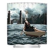 Lady Of Llyn-y-fan Fach Shower Curtain