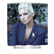 Lady Of Solitude Palm Springs Shower Curtain by William Dey