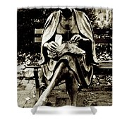 Lady Of Stone B Shower Curtain
