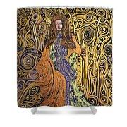 Lady Of Swirl Shower Curtain