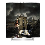 Lady Of The Night Shower Curtain by Nathan Wright
