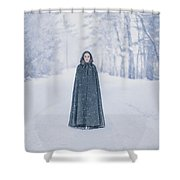 Lady Of The Winter Forest Shower Curtain