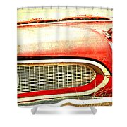 Lady On Red Shower Curtain