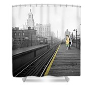 Lady On The El  Shower Curtain