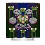 Lady Panda Welcomes Spring In Love And Light And Peace Shower Curtain