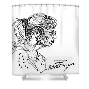 Lady Profile Shower Curtain