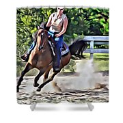 Lady Riding Shower Curtain