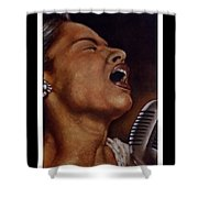 Lady Sings Shower Curtain