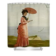Lady Tennyson On Afton Downs Shower Curtain