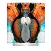 Lady Venus - Abstract Art By Sharon Cummings Shower Curtain